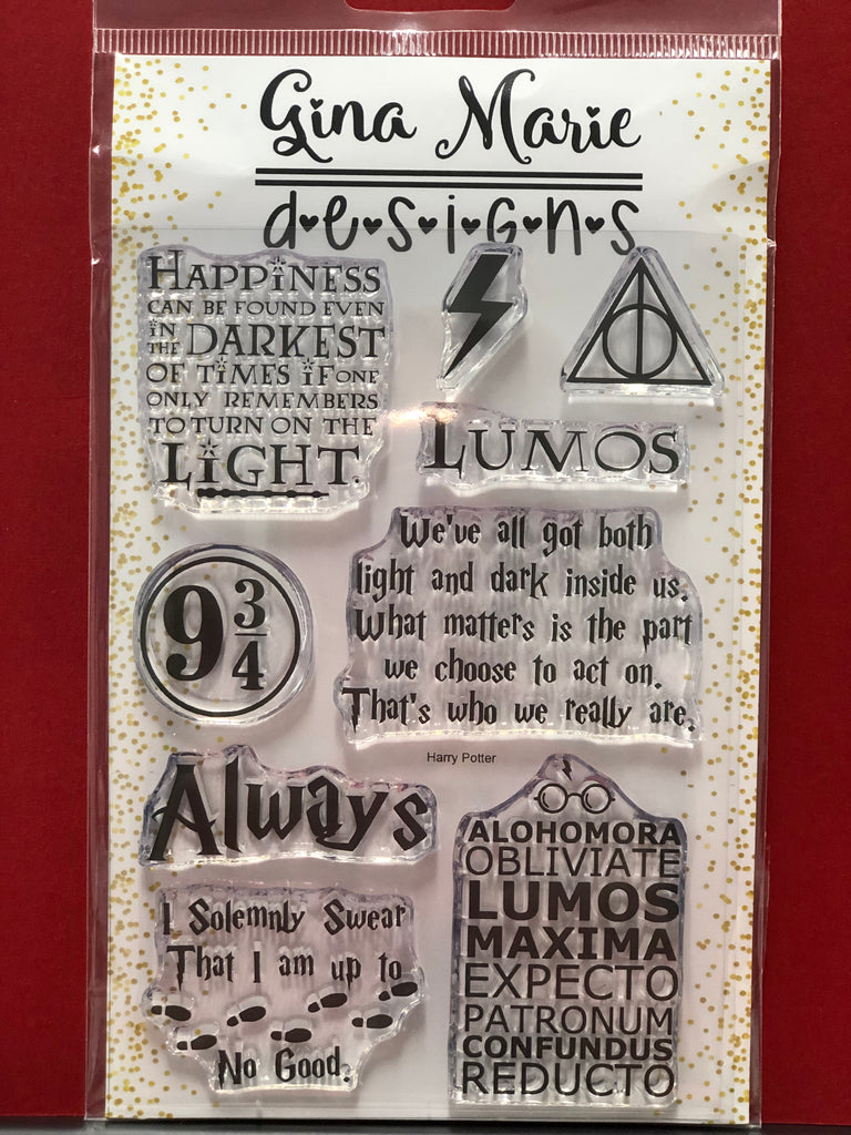 Gina Marie Designs Potter Wizard Stamp Set