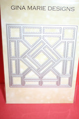 Gina Marie Designs QUILT #5 STAINED GLASS WINDOW 4X4 DIE -