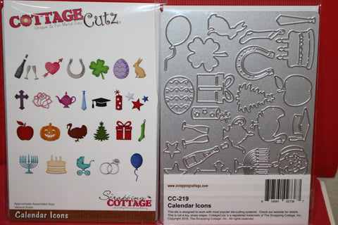 Cottage Cutz Calendar/Planner Icons Metal Cutting Dies