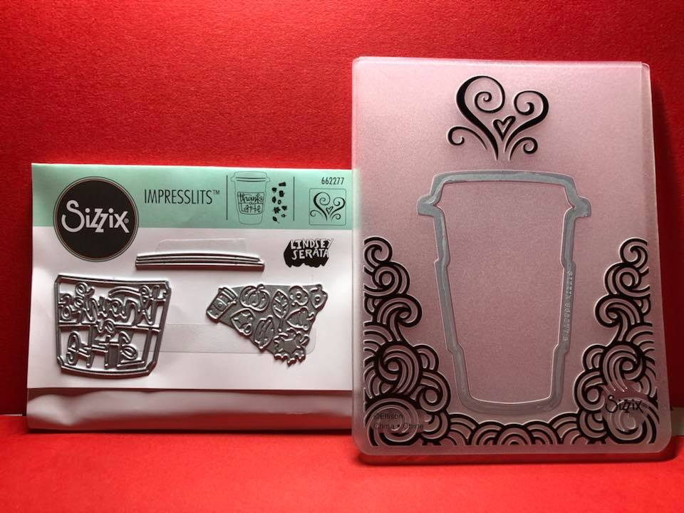 Sizzix Impresslits Thanks a Latte 662277