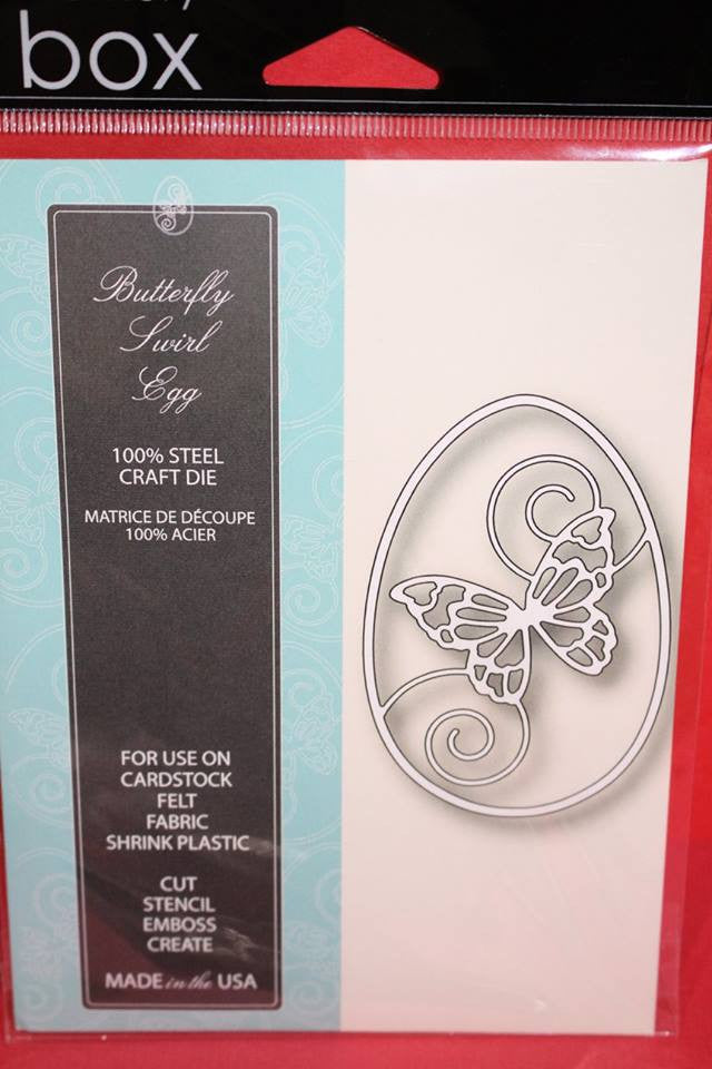 Memory Box Butterfly Swirl Egg