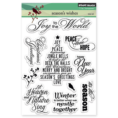 Penny Black Clear Stamps Season's Wishes