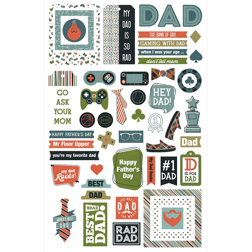 Photoplay/Colorplay Rad Dad Ephemera Die Cuts