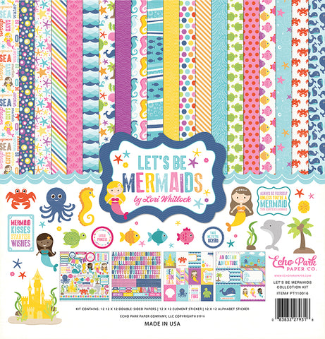 Echo Park Paper Company LBM110016 Let's Be Mermaids Collection Kit 12x12