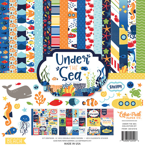 Echo Park Paper Company Under the Sea Collection Kit 12x12 US131016