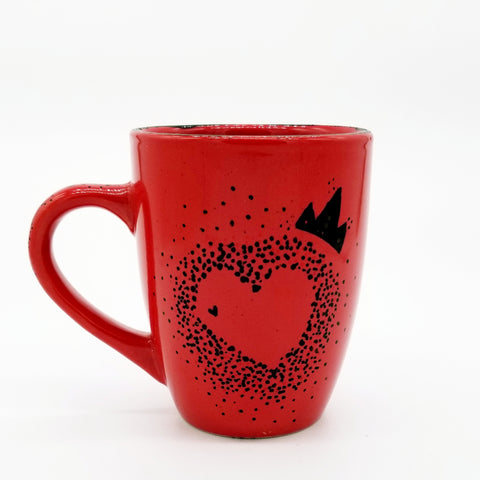 Queen of Hearts - Handpainted Mug