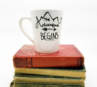 The Adventure Begins - Handpainted Mug