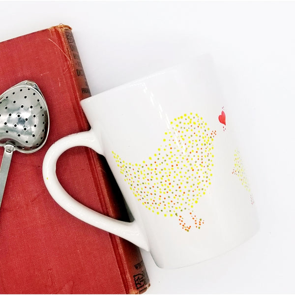 Hen Loves Chick - Handpainted Mug
