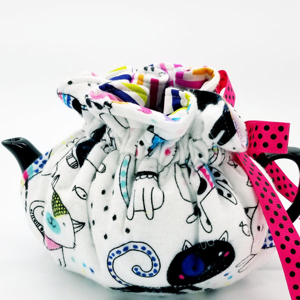 Party Cats/Zig Zag - Tea Cozy
