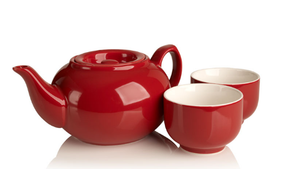 SimpliciTea Ceramic Teapot - Barn Red