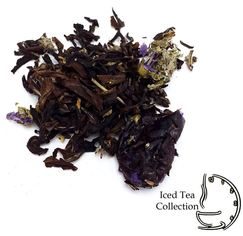ICED TEA - Black Cherries in Sweet Cream Darjeeling Tea