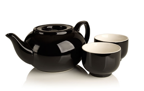 SimpliciTea Ceramic Teapot - Midnight Black