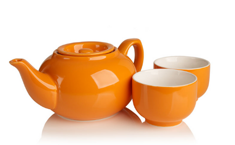 SimpliciTea Ceramic Teapot - Pumpkin Orange