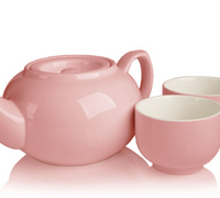 SimpliciTea Ceramic Teapot - Cottage Pink