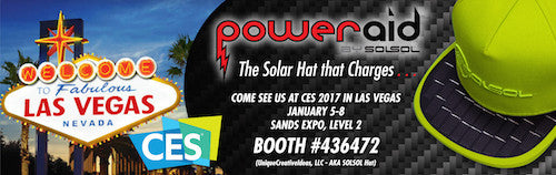 UCI, LLC presenting Poweraid Solsol Solar Hat at CES 2017