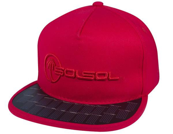 THE SOLSOL™ SNAPBACK 1.1W SOLAR CHARGER HAT