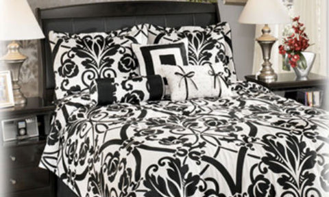 Beauville Ebony 7 Piece Queen Bedding Set