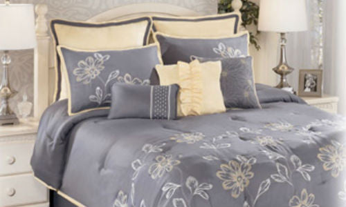 Maxine Grey Queen 9 Piece Bedding Set
