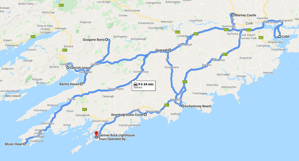 Map of Cork (Google Maps)