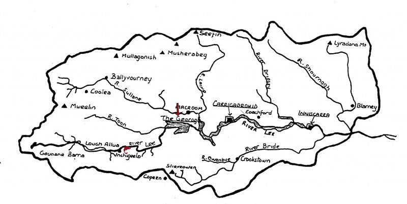 gearagh map of lee valley
