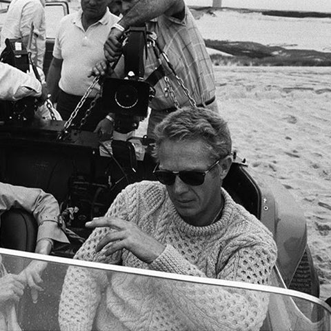 Steve McQueen Aran (Photo: https://www.pinterest.ie/pin/779333910491931067/)