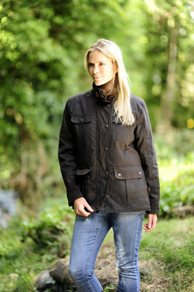Lisroe Ladies Dry Wax Jacket - Black Jackets Lee Valley Ireland