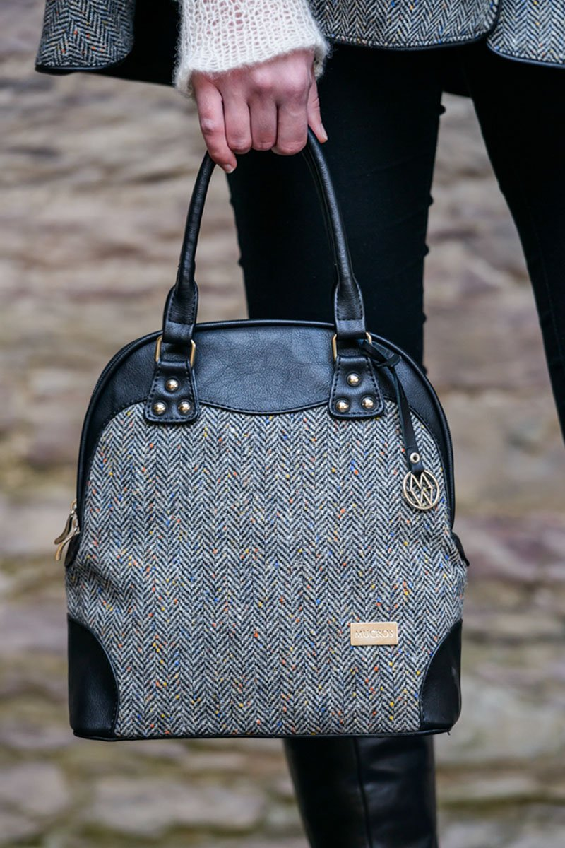 Abbie bag 1 - Grey herringbone