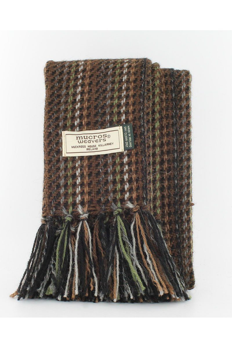 Alpaca mens scarf 1 Brown/Green A34