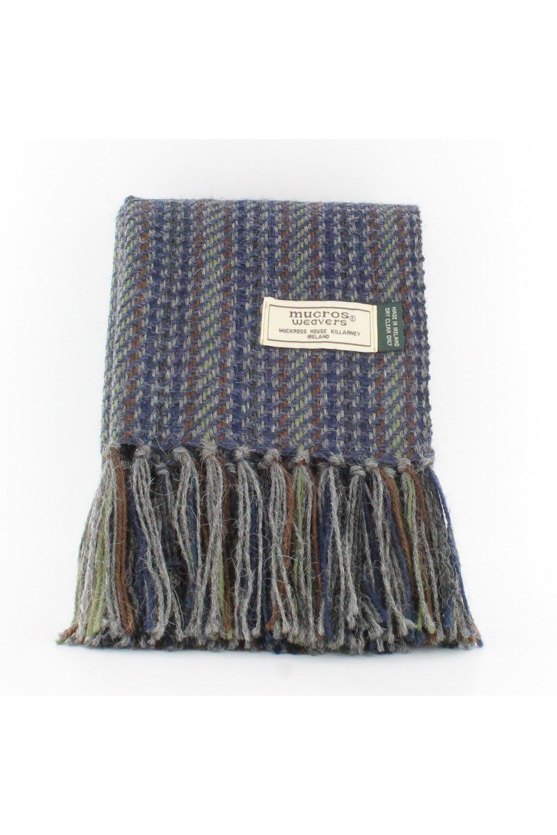 Alpaca mens scarf 1 Blue/Green A76