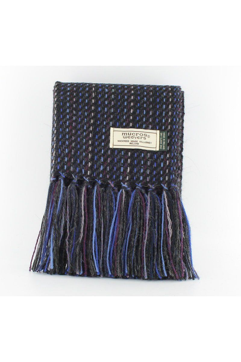 Alpaca mens scarf 1 Purple/Black A98