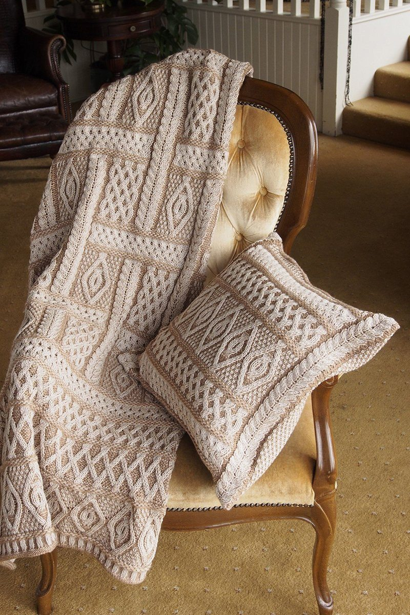 Aran Wool Cushion Covers - Beige Mix - X4350 - Lee Valley Ireland