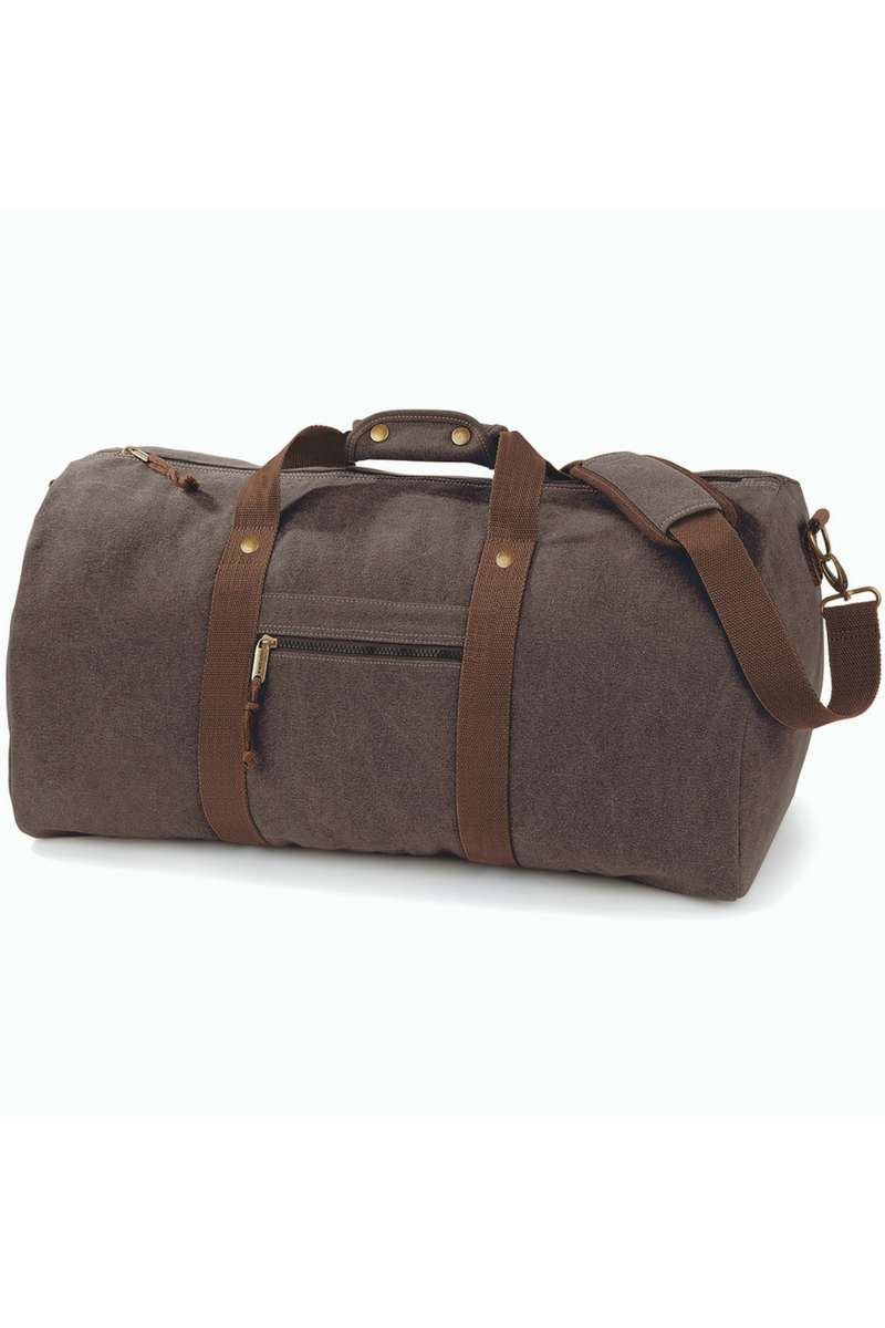 Vintage Canvas Holdall - Brown (QD613) Ral Ralawise