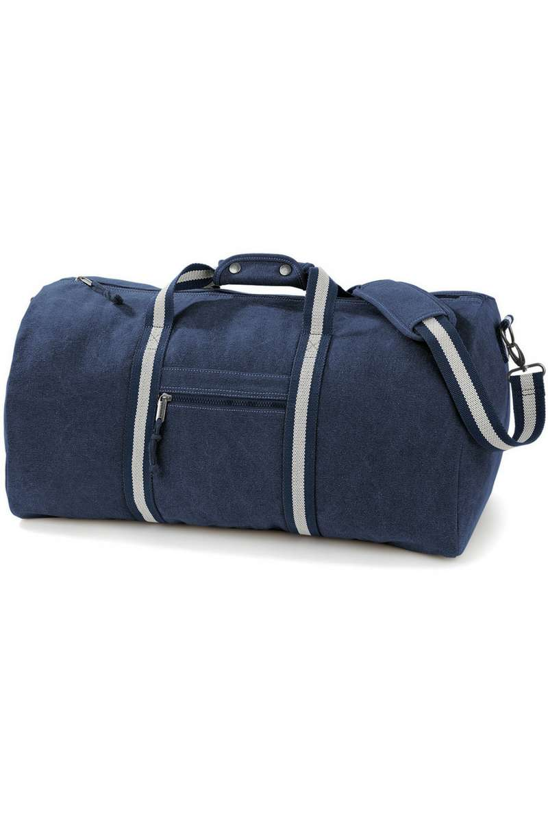 Vintage Canvas Holdall - Navy (QD613) - Lee Valley Ireland - 1