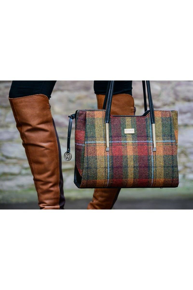 Brid bag 1 - Red Green Tartan