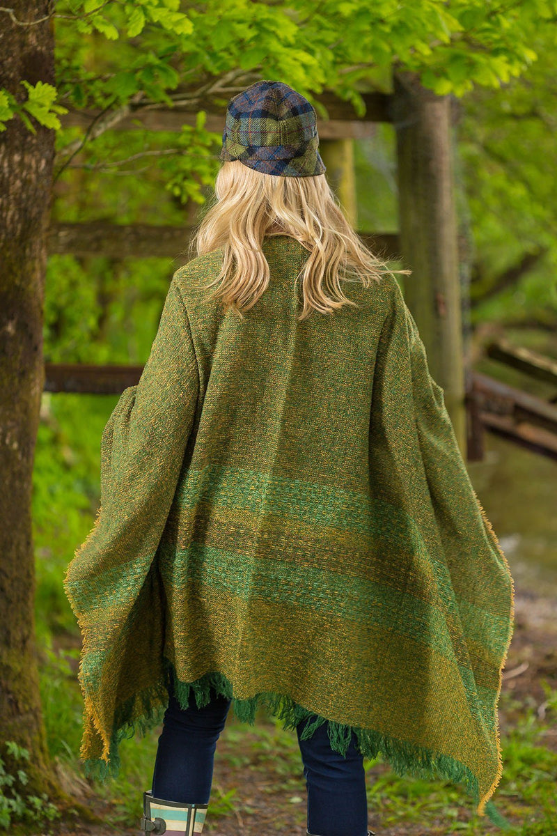 Celtic Wool Shawl - Kelly Green - Lee Valley Ireland - 2