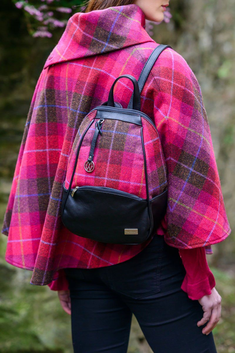 Coleen backpack 2 - pink check