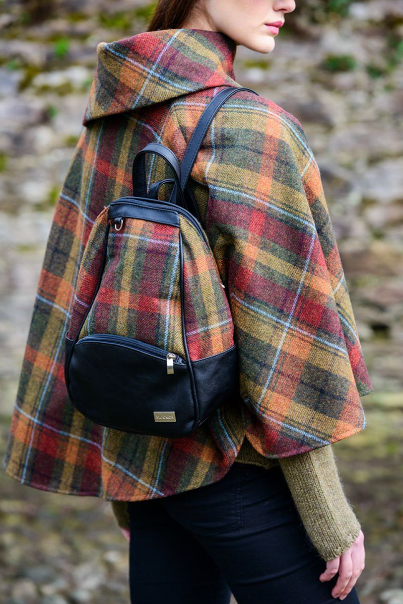 Coleen backpack 1 - Red Green Tartan