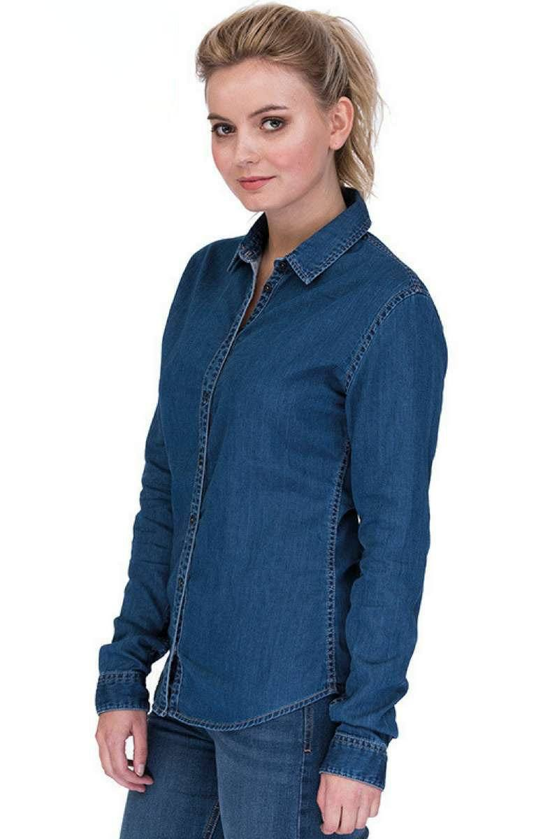 Lucy Denim Shirt - Dark Blue 1