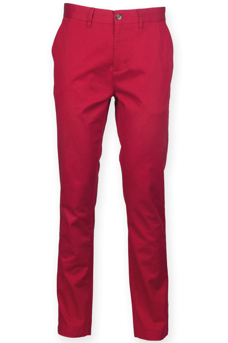 Cotton Stretch Chinos (FR621) Ral Ralawise 28R Red