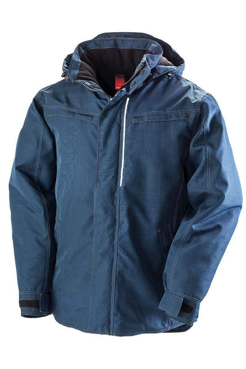 Denim Texture Rugged Jacket Navy (R326X) - Lee Valley Ireland - 1