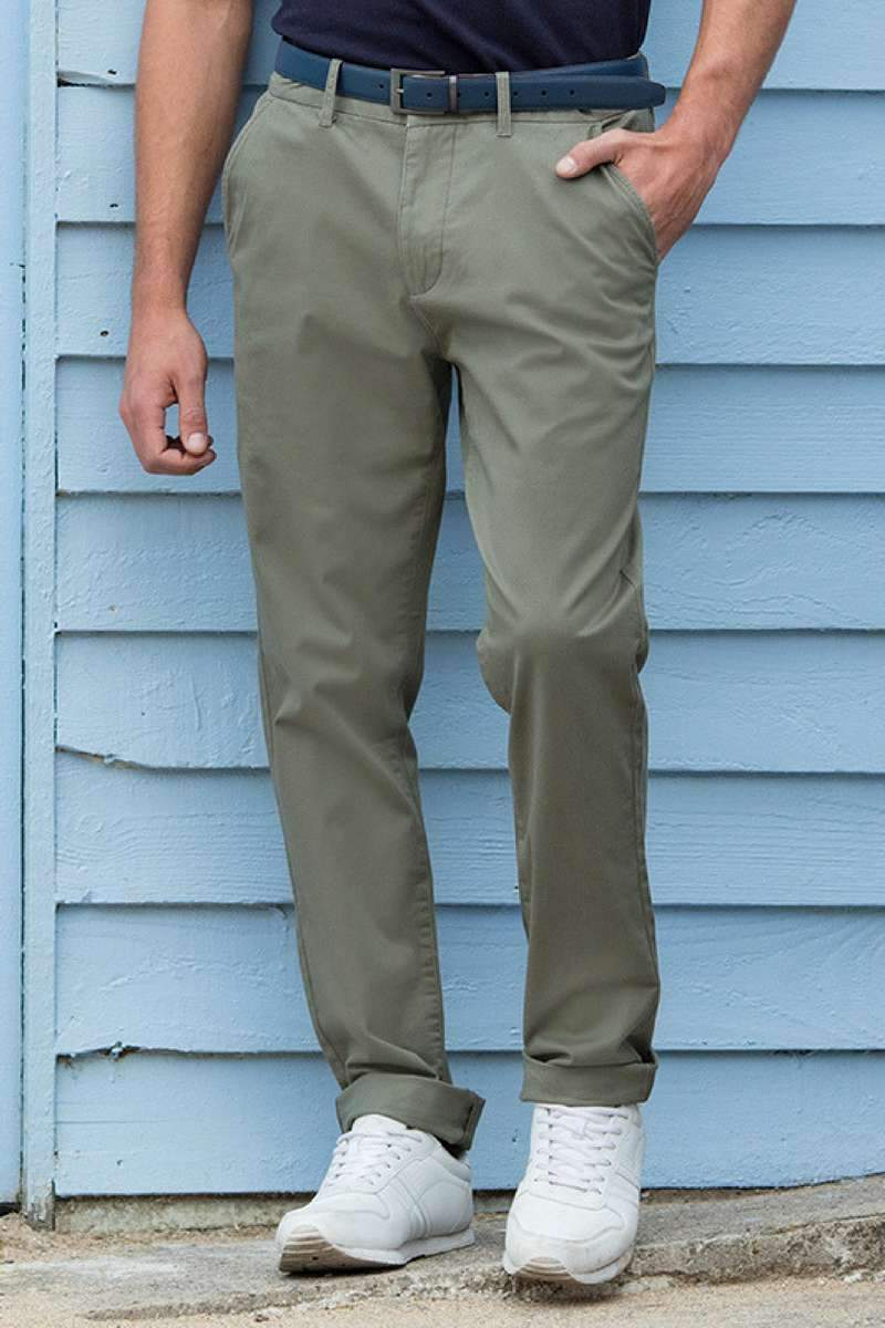 Cotton Stretch Chinos Olive - Lee Valley Ireland - 4