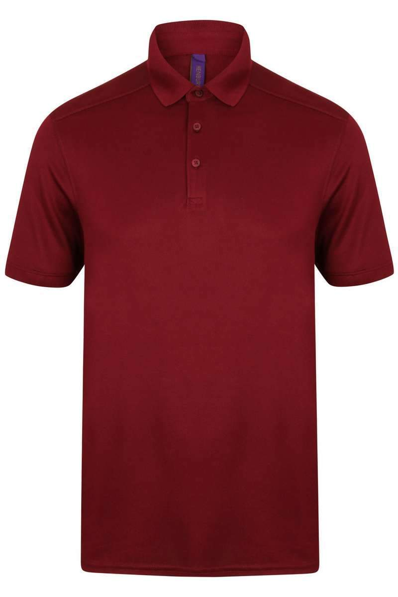 Stretch Polo Shirt - Lee Valley Ireland - Burgundy -1