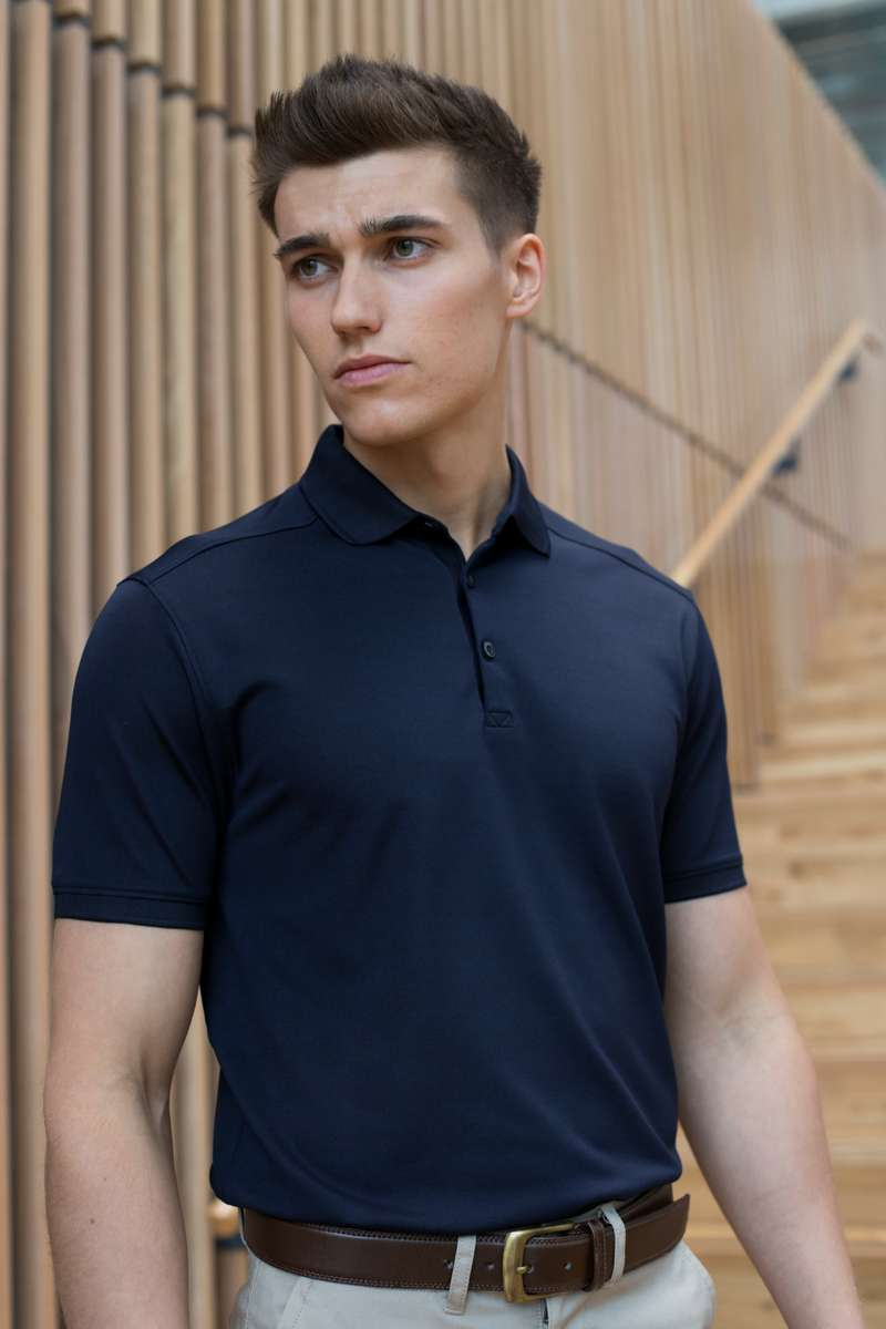 Stretch Polo Shirt - Lee Valley Ireland - Navy - 1