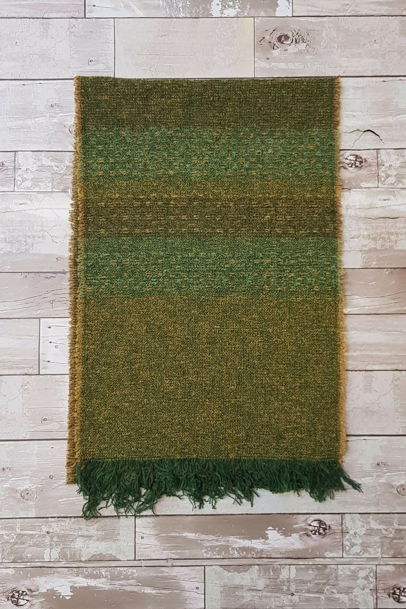 Celtic Wool Stoles - Kelly Green Knitwear Lee Valley Ireland
