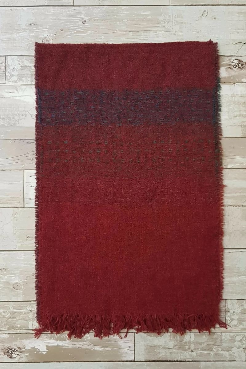 Celtic Wool Stoles - Rich Red Knitwear Lee Valley Ireland