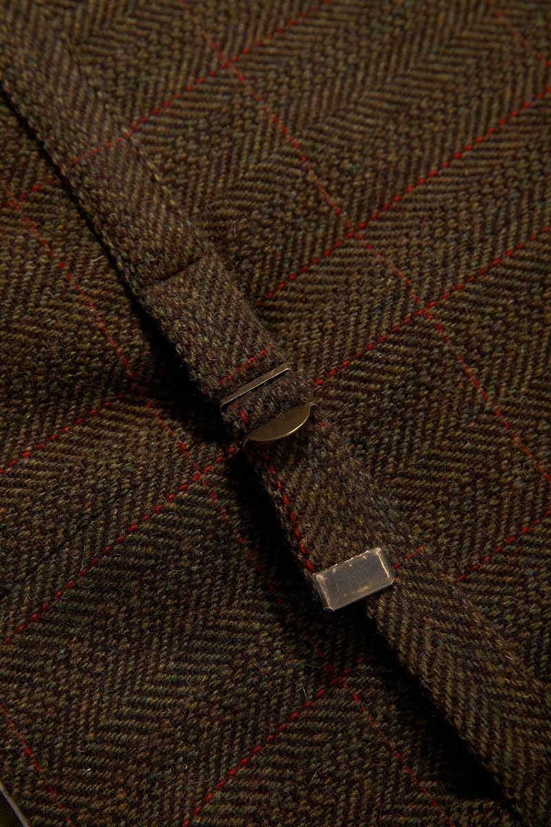 Irish Wool Tweed Vest - Durrow Moss Check - Lee Valley Ireland - 5