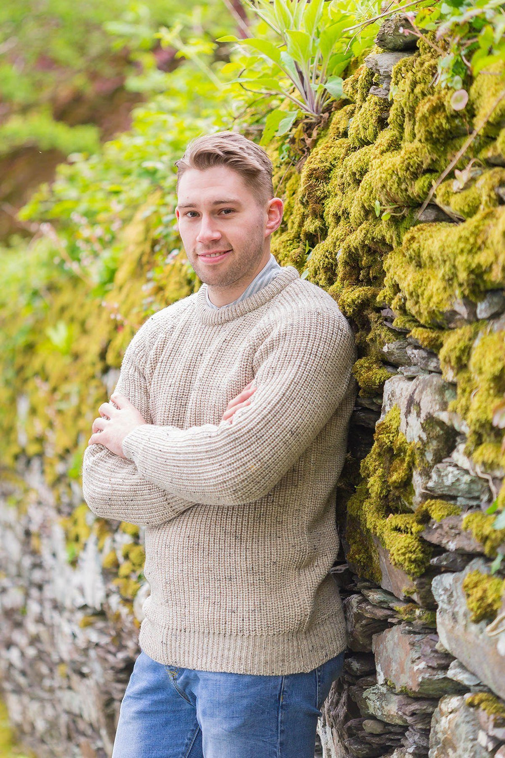 Fisherman Rib Wool Sweater - Skiddaw (C761) Knitwear Westend