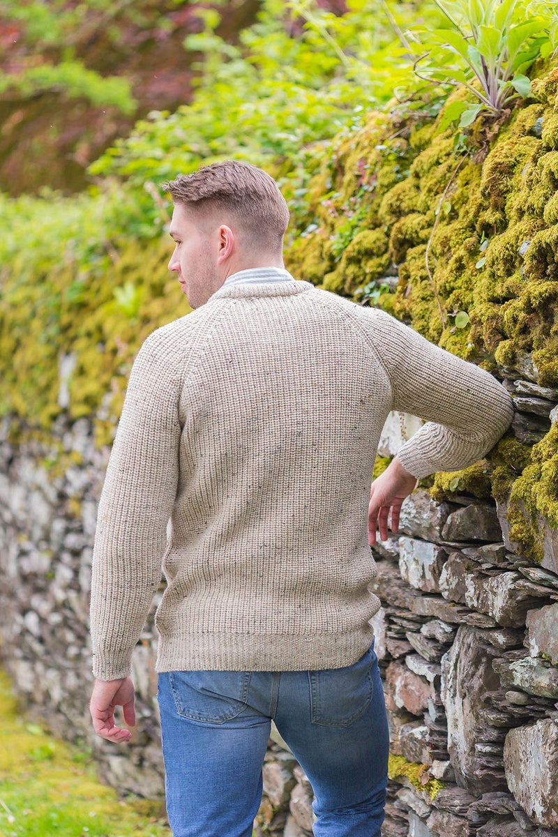 Fisherman Rib Wool Sweater - Skiddaw (C761) - Lee Valley Ireland - 2