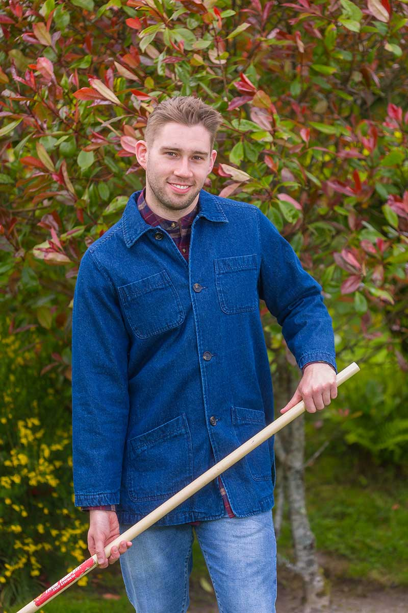 Gardening Jacket Mens - Denim with Flannel Lining