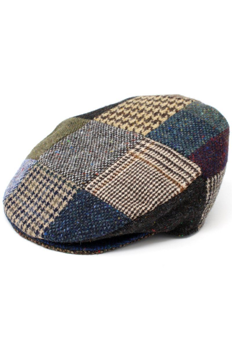 Hanna Hats Patchwork Tweed Cap - Lee Valley Ireland - 1